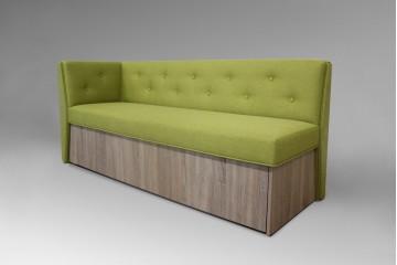 Кухонный прямой диван Верона с боковой стенкой