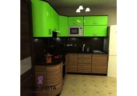 Зеленый кухонный гарнитур Арт-Модерн 14