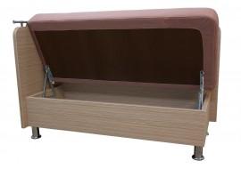 Прямой диван Сюрприз с боковой стенкой