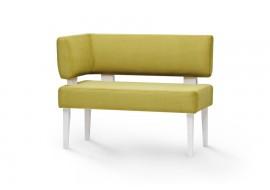 Кухонный прямой диван-скамья Свен с боковой спинкой