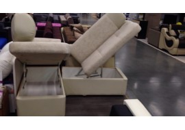 Витринный угловой диван Триумф с емкостью